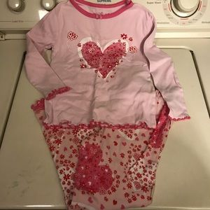 Girls Valentine's Day pjs